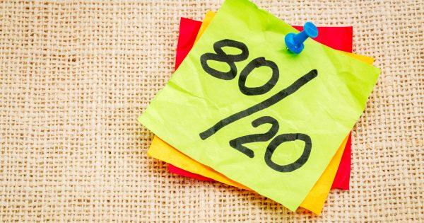 ¿Quieres ser más productivo? La regla del 80/20 puede ayudarte